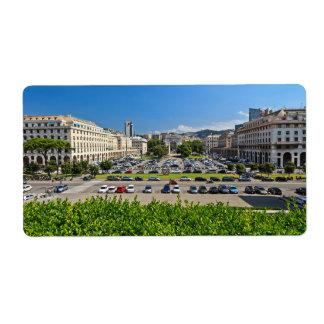 Genova - Piazza Della Vittoria Personalized Shipping Labels