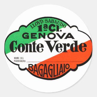 GenovaConteVerde Classic Round Sticker