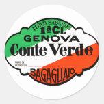 GenovaConteVerde Etiqueta Redonda