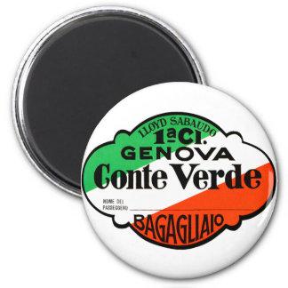 GenovaConteVerde Imán Redondo 5 Cm