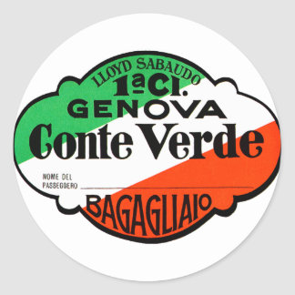 GenovaConteVerde Pegatina Redonda