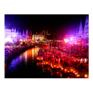 Gent, Belgium GentseFeesten 2014 Postcard