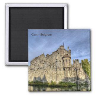 gent, Gent. Belgium 2 Inch Square Magnet