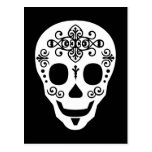 Gent Sugar Skull by Leslie Peppers Post Cards
