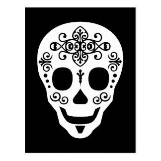 Gent Sugar Skull by Leslie Peppers Postcard