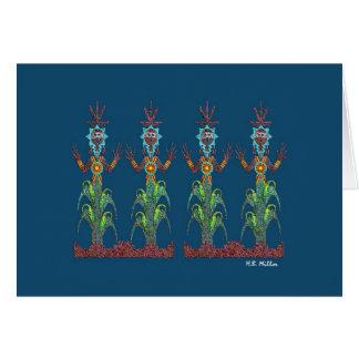 Gente azul del maíz, imagen 1a, tarjeta