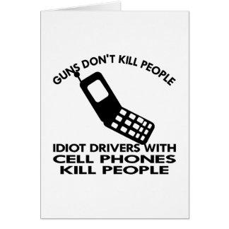 Gente blanca de la matanza de los teléfonos tarjeta de felicitación