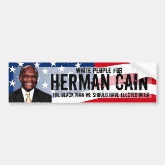 Gente blanca para la etiqueta de Herman Caín Pegatina Para Auto