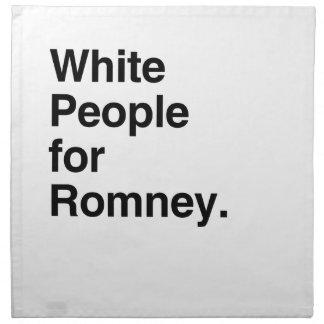 Gente blanca para Romney.png Servilleta Imprimida