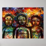 Gente colorida impresiones