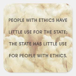 Gente con el pegatina de los éticas
