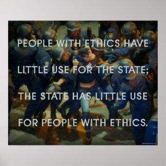 Gente con los éticas poster
