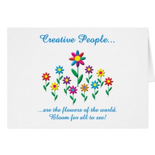 Gente creativa felicitación