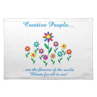 Gente creativa manteles individuales