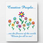 Gente creativa placas con foto