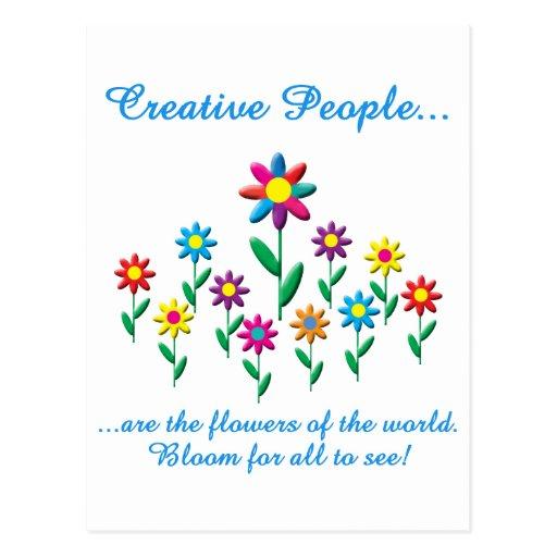 Gente creativa postales