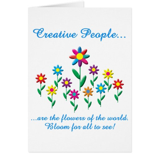 Gente creativa tarjetón