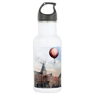 Gente de ciudad del baloon del aire caliente la