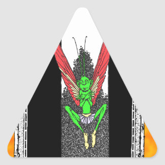 Gente de hadas pegatinas de triangulo personalizadas