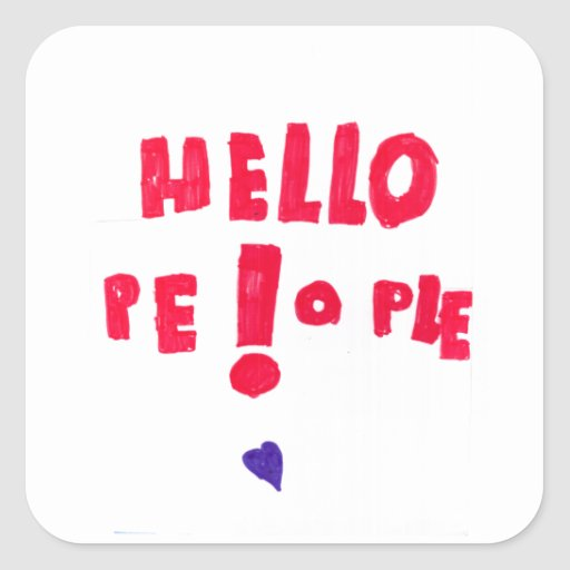 ¡Gente de Helloe! Pegatina Cuadrada