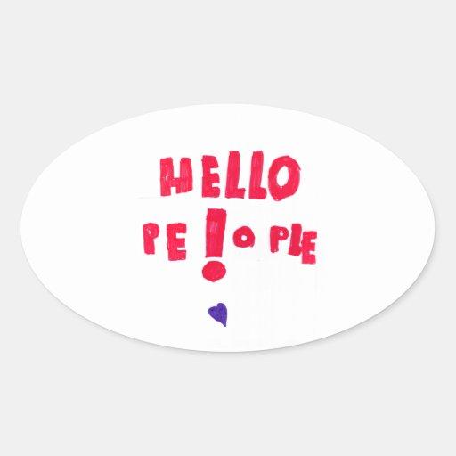 ¡Gente de Helloe! Pegatina Ovalada