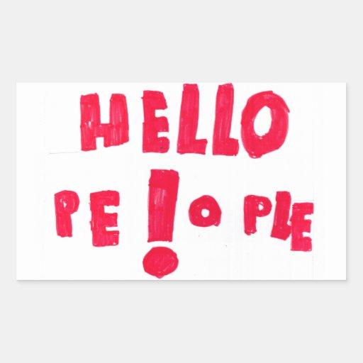 ¡Gente de Helloe! Pegatina Rectangular