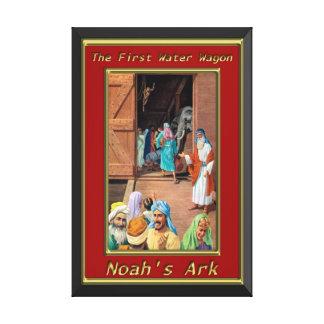 Gente de la arca del ` s de Noah que va dentro de Lienzo Envuelto Para Galerias