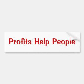 Gente de la ayuda de los beneficios pegatina para auto