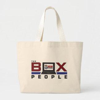 Gente de la caja bolsa tela grande