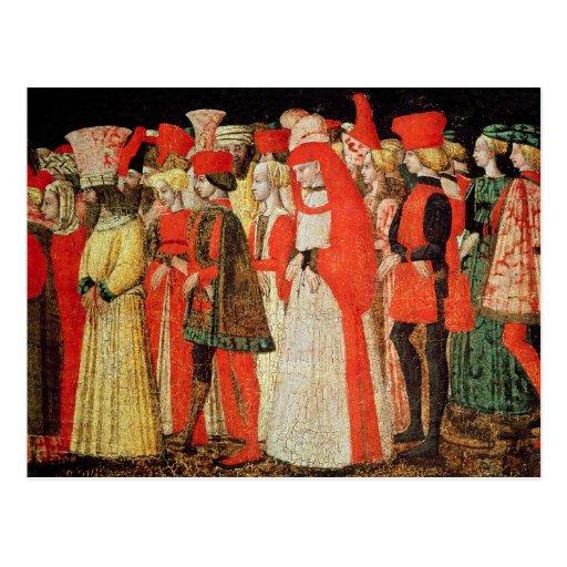 Gente de la corte de la familia de Sforza Tarjeta Postal