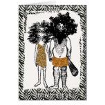 Gente de la cueva en amor tarjeta de felicitación