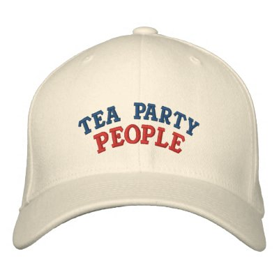 Gente de la fiesta del té gorros bordados