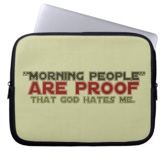 Gente de la mañana - dios de la prueba me odia fundas portátiles