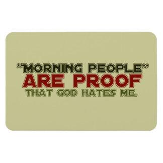 Gente de la mañana - dios de la prueba me odia iman de vinilo