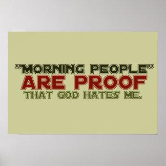Gente de la mañana - dios de la prueba me odia poster