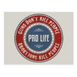 Gente de la matanza de los abortos tarjeta postal