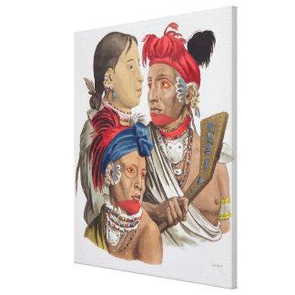 Gente de la nación de Osagi, de 'Le Costume Ancie Lienzo Envuelto Para Galerias