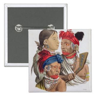 Gente de la nación de Osagi, de 'Le Costume Ancie Pin Cuadrada 5 Cm