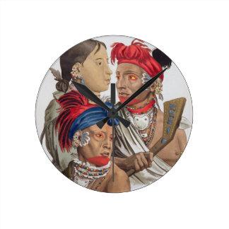 Gente de la nación de Osagi, de 'Le Costume Ancie Reloj Redondo Mediano