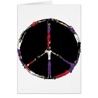 gente de la paz tarjeta de felicitación