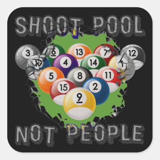 Gente de la piscina del lanzamiento no pegatina cuadrada