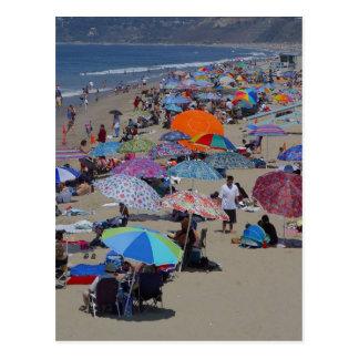 Gente de la playa de Santa Mónica Postales