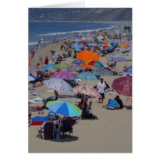 Gente de la playa de Santa Mónica Tarjeta De Felicitación