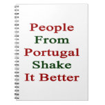 Gente de la sacudida de Portugal él mejor Cuadernos
