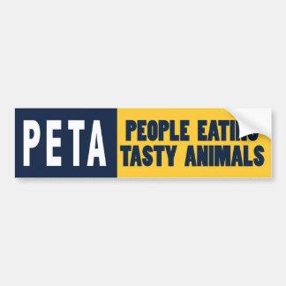 Gente de PETA que come animales Pegatina Para Auto
