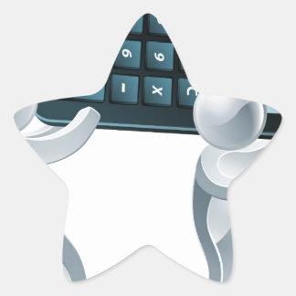 Gente de plata de la calculadora colcomanias forma de estrella personalizadas