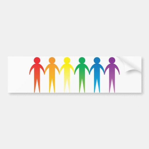 Gente del arco iris pegatina para auto