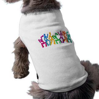 Gente del baile camiseta de perro