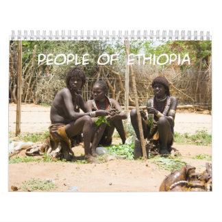 GENTE del calendario de pared de ETIOPÍA 2013