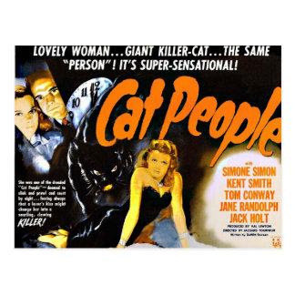 Gente del gato del poster del horror del vintage postales